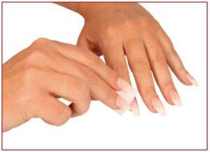 schoonmaken nagels